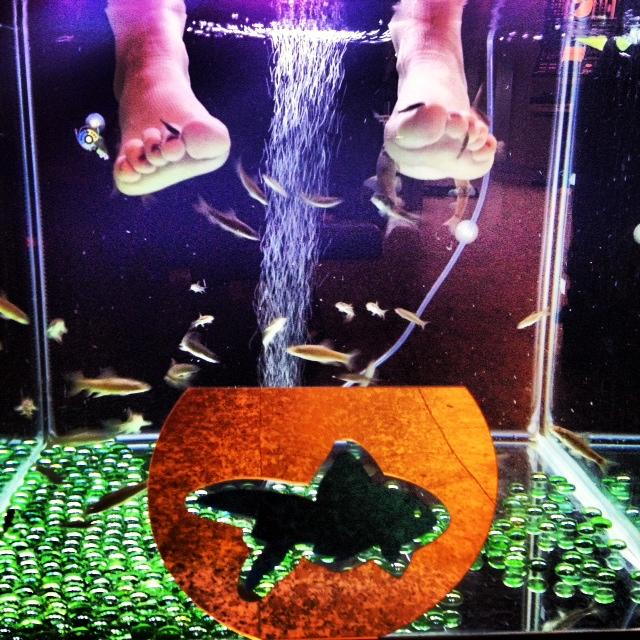Cerise Fish Pedicure