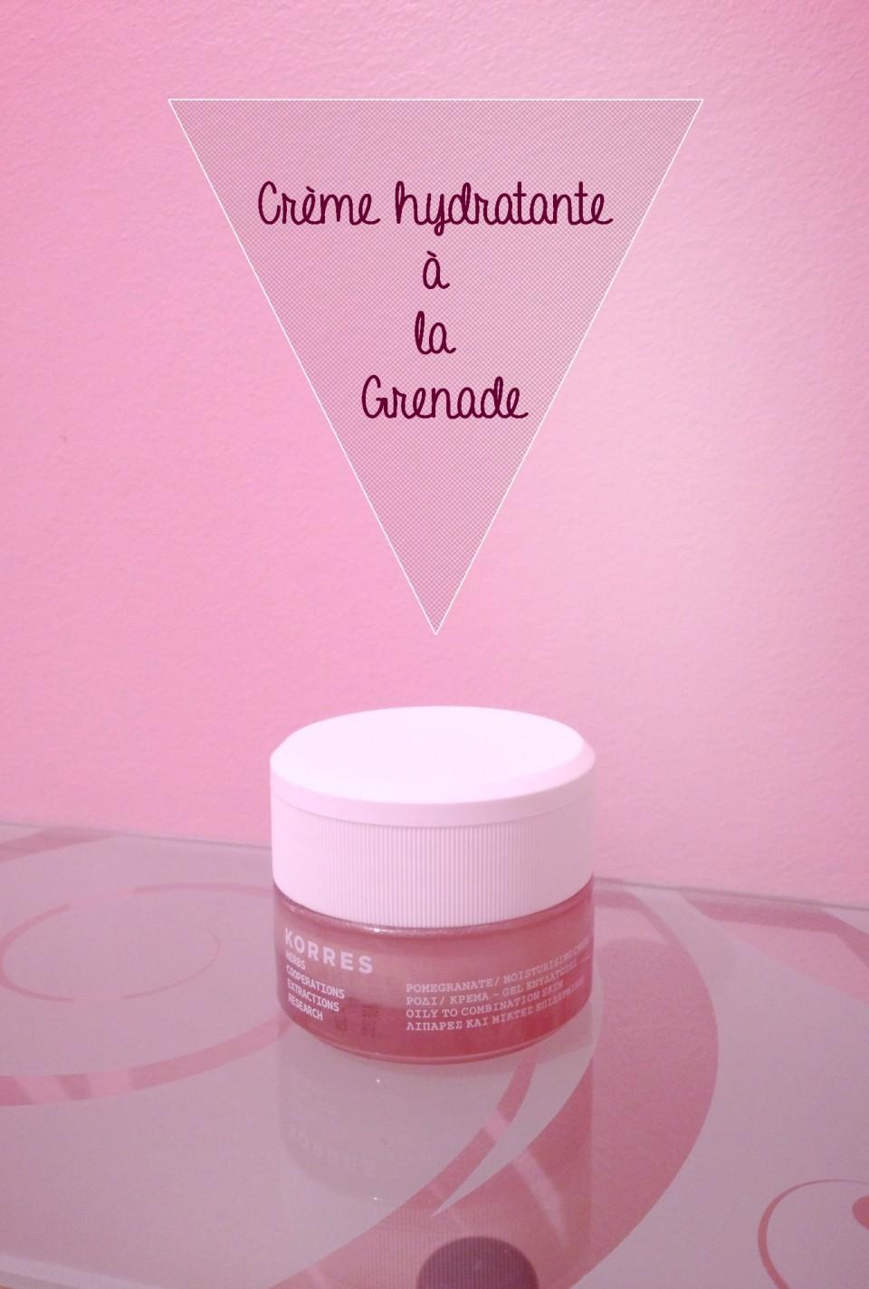 Crème hydratante à la Grenade