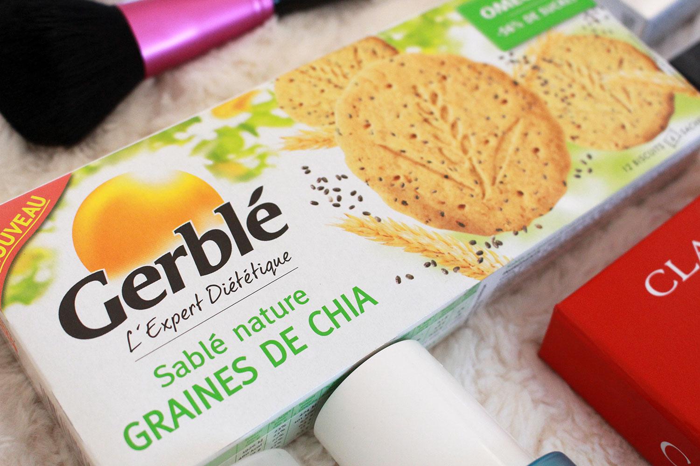 Sablés natures aux graines de Chia - Gerblé