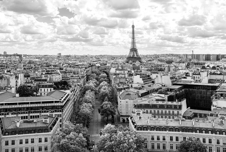 Je suis une parisienne mon beau cerisier for Tableau paris noir et blanc